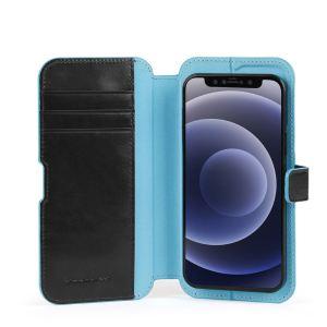 "Piquadro cover magnetica in pelle per iPhone® 12 ""B2R"" Nero AC5623B2R.N"