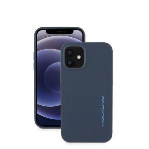 "Piquadro cover magnetica in silicone per iPhone® 12 mini ""BM"" Grigio AC5639BM.GR"