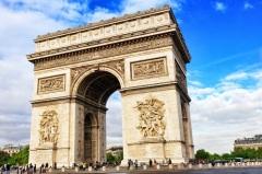 В Париже на площади Звезды (ныне - Шарля де Голля) торжественно открыта Триумфальная арка