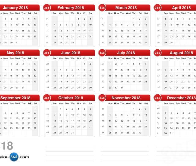 2018 Calendar V2