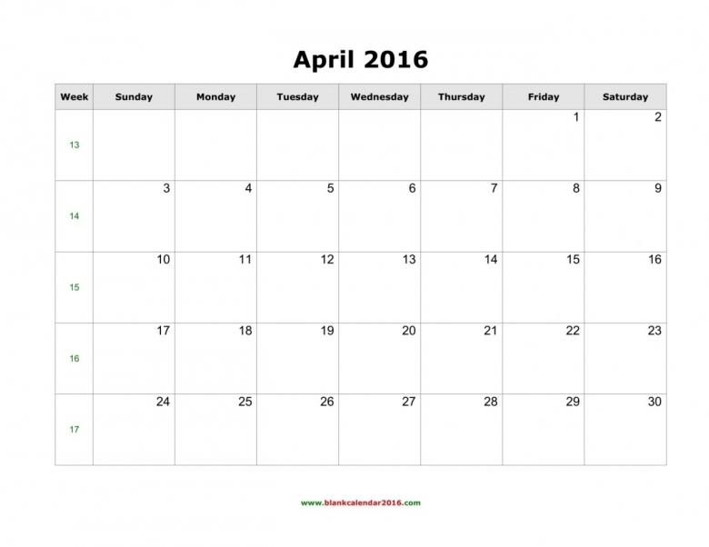 July 2017 Blank Schedules