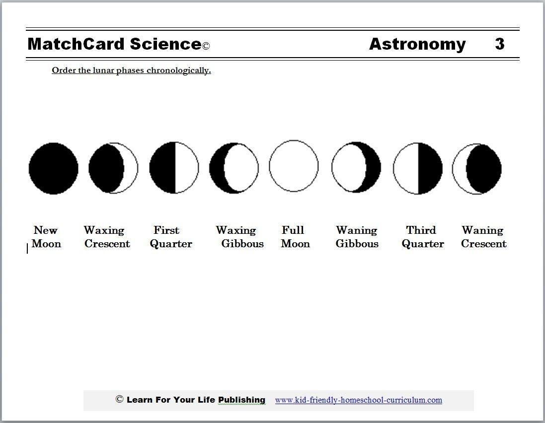 Blank Moon Calendar For Kids Free Calendar Template