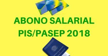 abono salarial pis pasep 2018