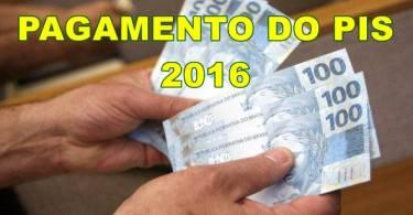 pagamento do PIS 2016-2017