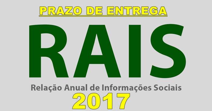 Prazo de entrega da RAIS 2017