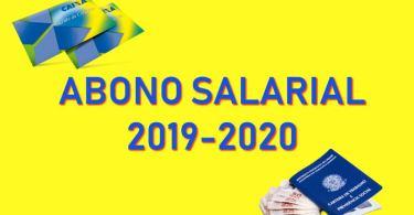 abono salarial PIS 2019-2020