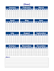 Free Yearly Blank Calendar Template Printable Blank Yearly Calendars