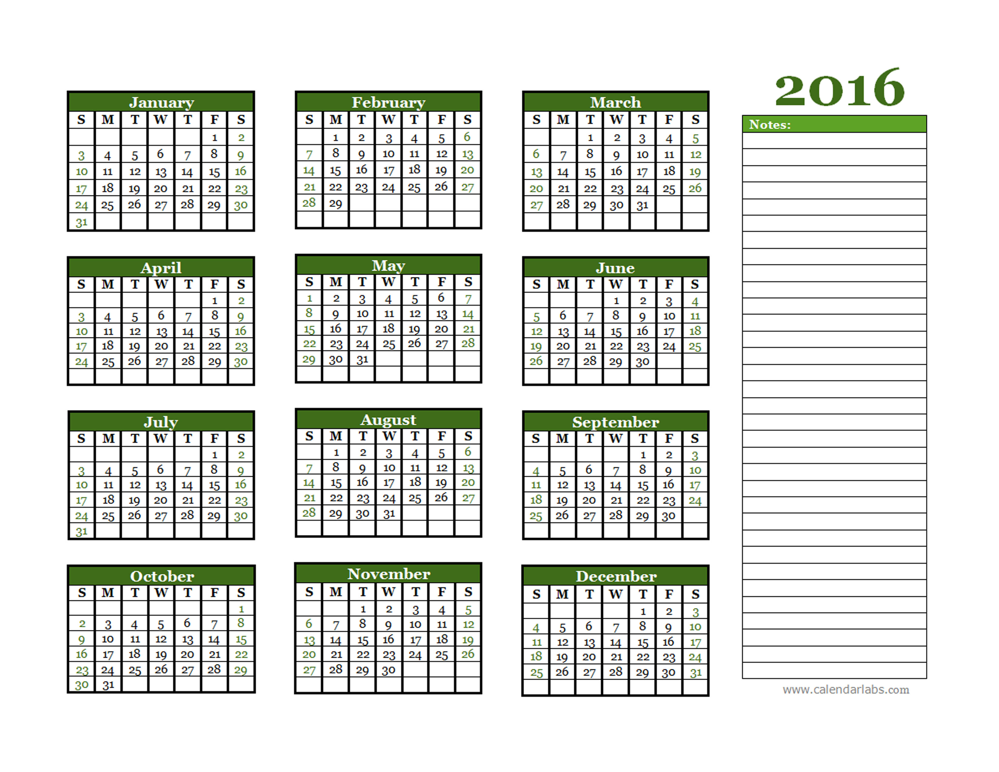calendar labs for 2016 yearly calendar calendar template 2016