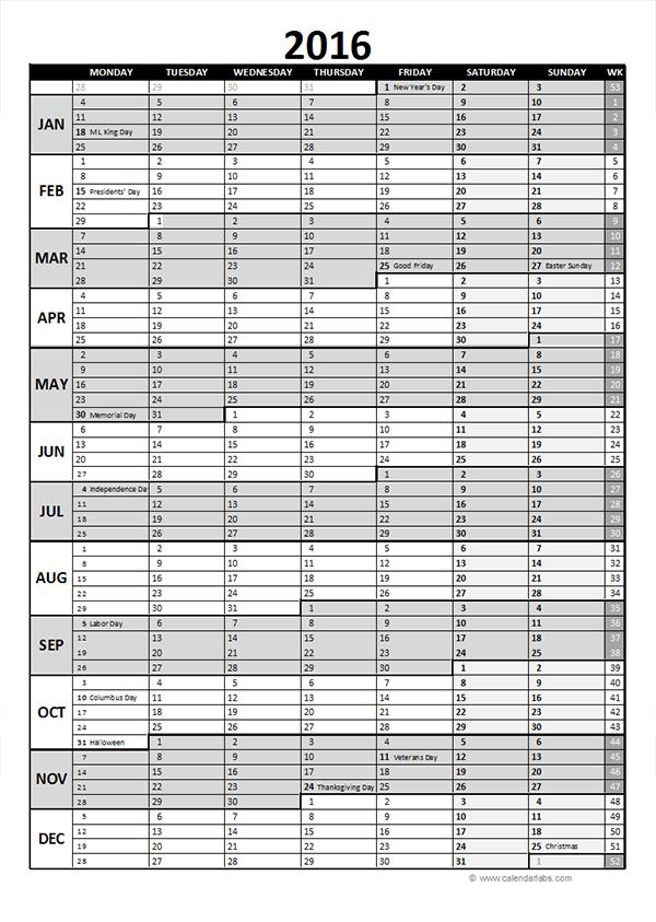 ... 2016 calendar download 16 free printable excel templates xls. calendar