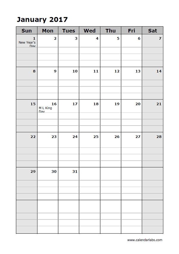 Blank Daily Planner Template calendar template free calendar – Blank Daily Planner Template