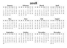 school year calendar template 2018 17