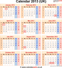 2013 November Cats Month Calendar Printable