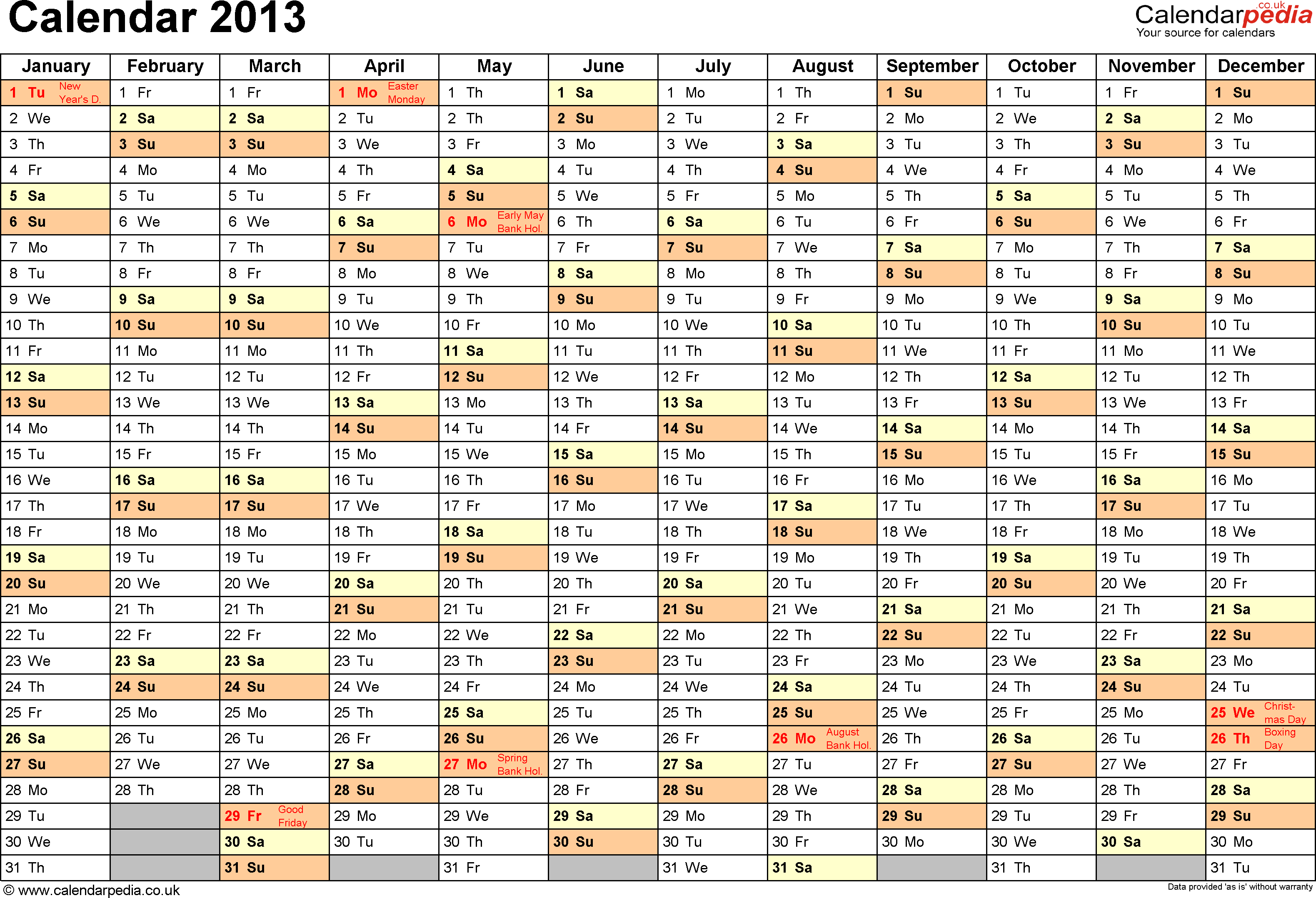 Calendar Uk With Bank Holidays Amp Excel Word Templates