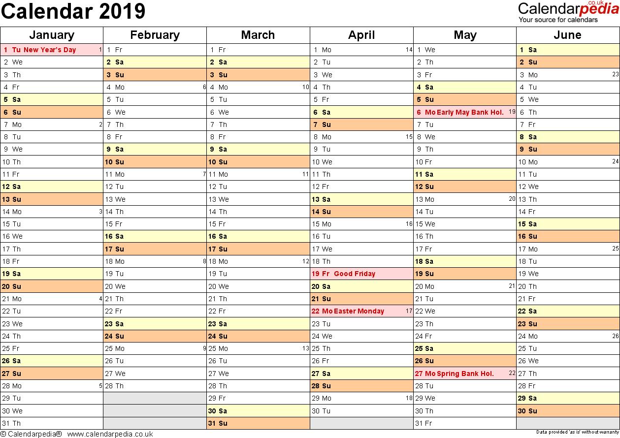 Excel Calendar Uk 17 Printable Templates Xlsx Free