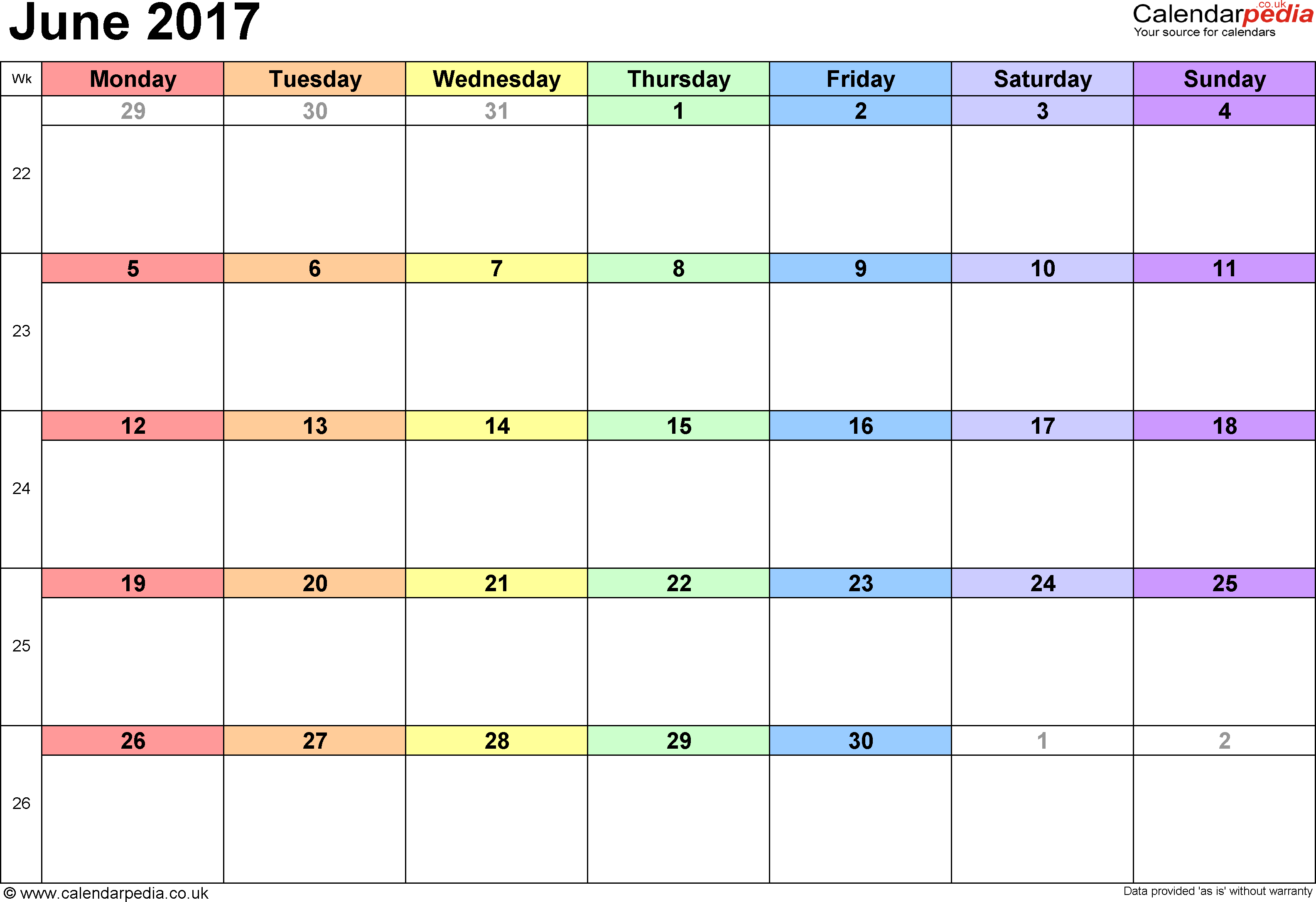 Image result for Free June 2017 Calendar: with holiday