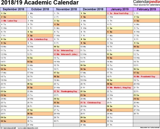 printable school calendars 2018 17