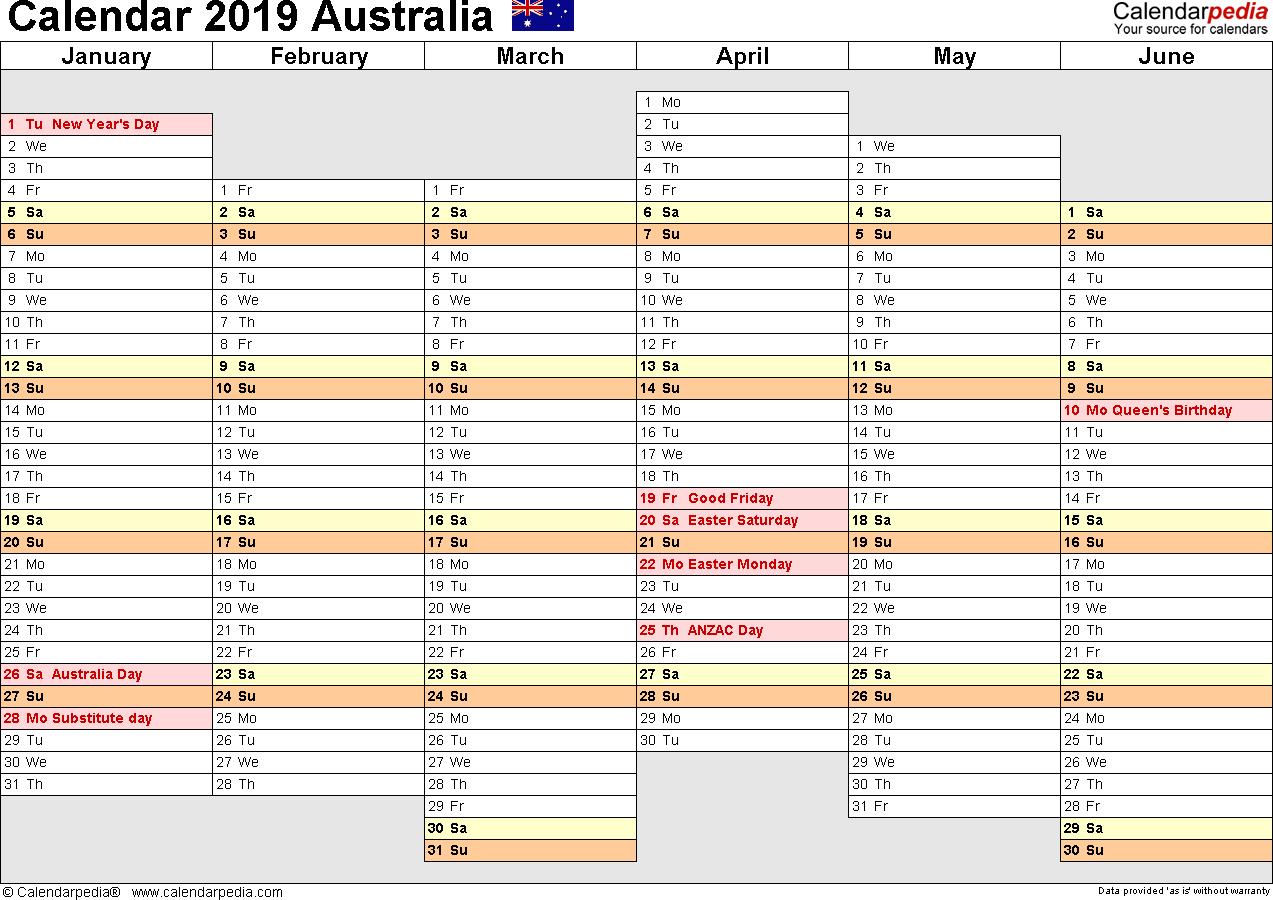 Horizontal Weekly Planner Template