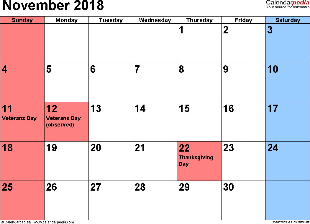 november 2018 calendar in telugu