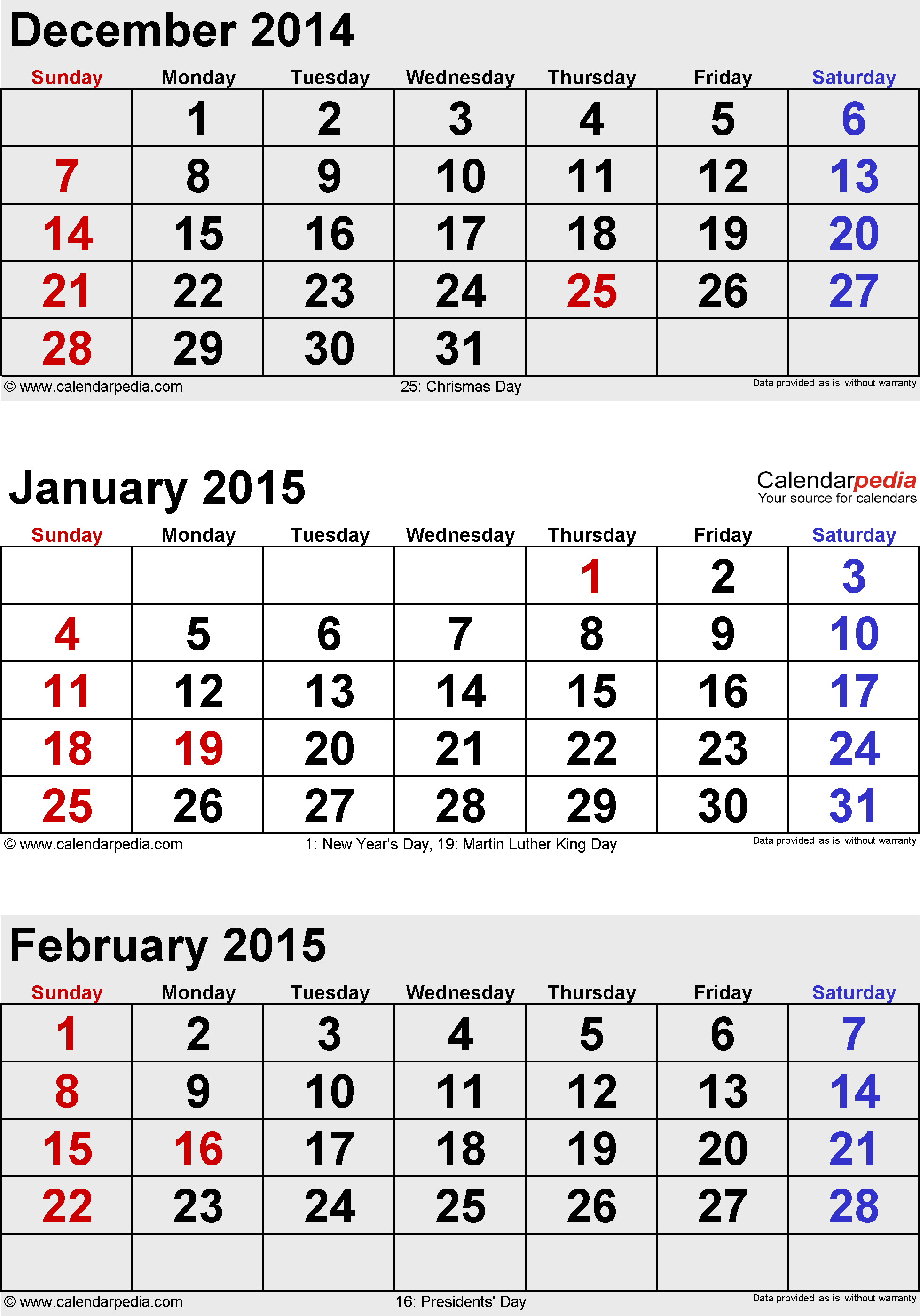 february 2015 calendars for word excel amp pdf