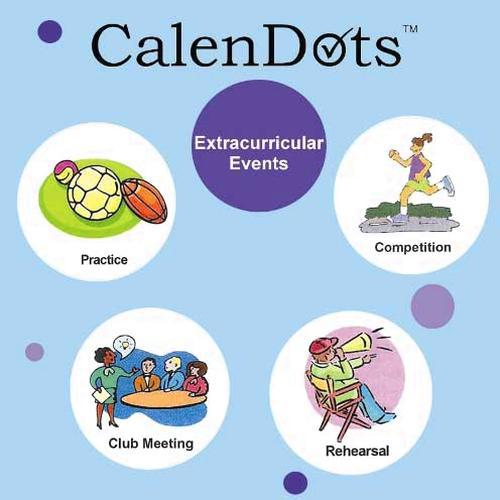 Calendar reminder stickers for every day planning and organising