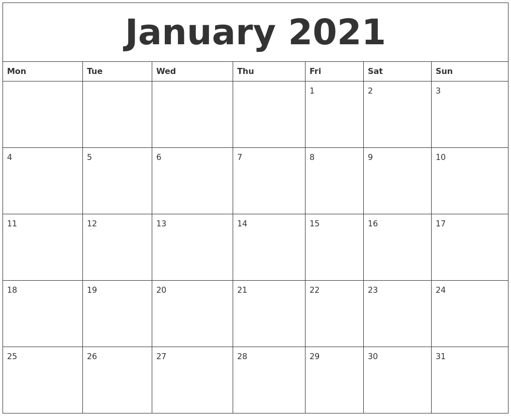 Image Result For Free Calendar Monthly