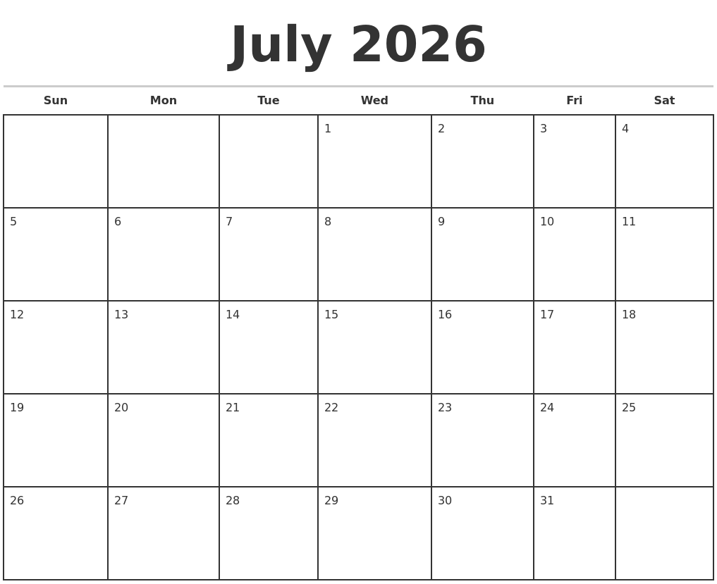 Image Result For Template For Monthly Calendar