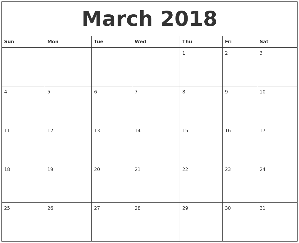 Image Result For Printable Monthly Calendar Pages