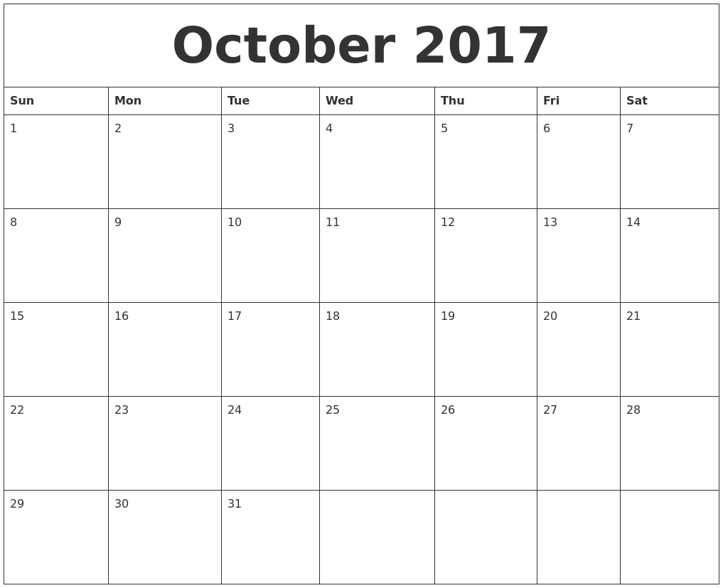 Image Result For Monthly Free Printable Calendar