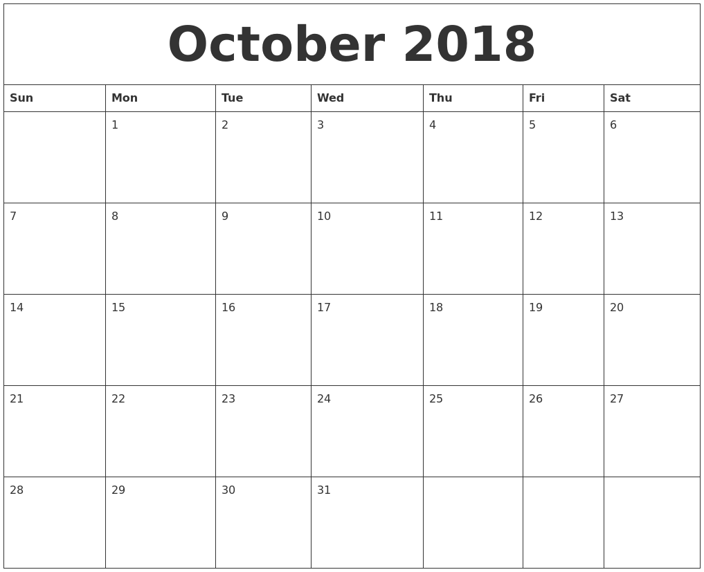 Image Result For Monthly Calendar To Print