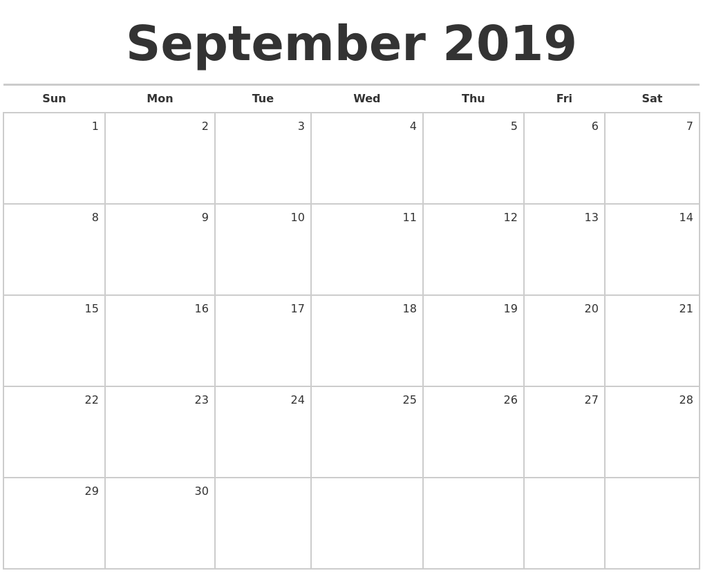 Image Result For Calendar Blank Monthly
