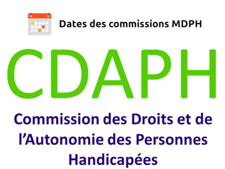 Calendrier des commissions MDPH