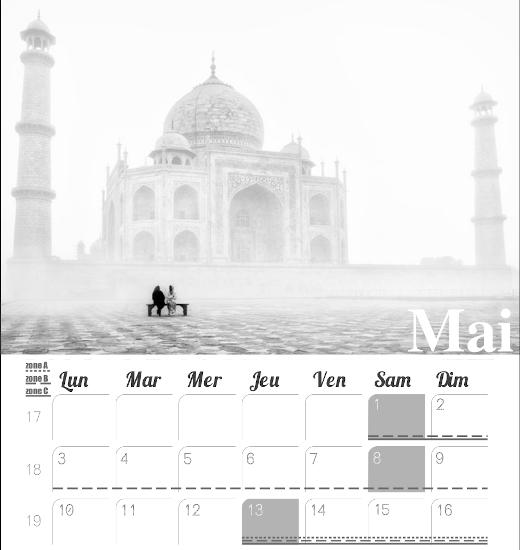 calendrier 2021 voyage mois de mai