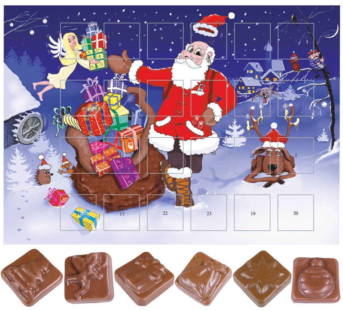 calendrier de l avent au chocolat classique