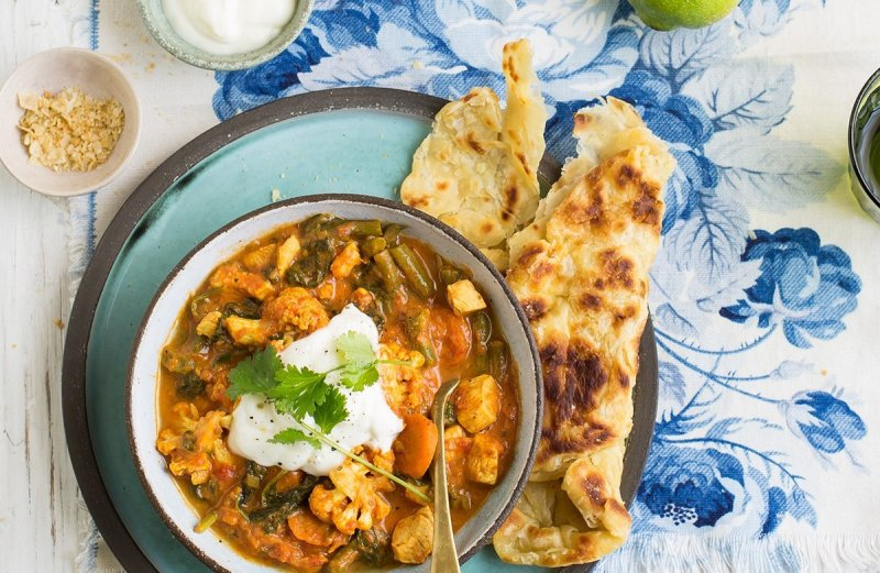 Healthier veggie loaded butter chicken curry