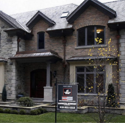Example of a Toronto luxury home. The Canadian Real Estate Association said in early February 2009 it expects sales this year to drop to 2000 levels after a 16.9% decline in activity from 2008.