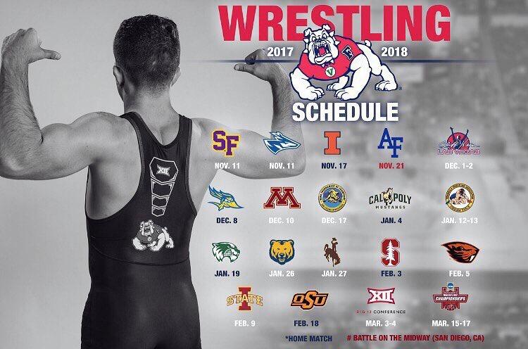 Fresno State Wrestling Schedule 2017-18