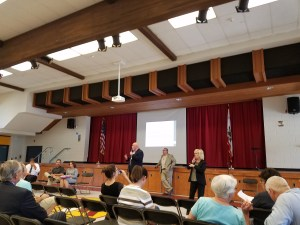 Residents in northeast Fresno gathered at a community meeting in June to try to get answers about why polluted-looking water keeps spewing from their taps. Photo: Derek Walter.