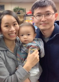 Dr. Shelly Tseng with her husband Nate and their son Ethan.