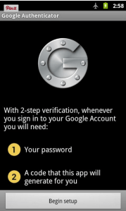 Google Authenticator gmail