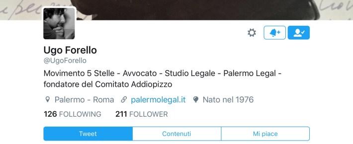 Ugo Forello su Twitter