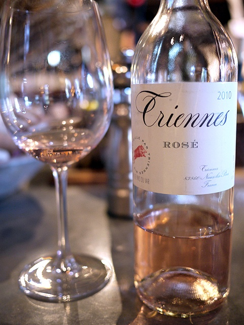 Triennes Rose wine from Provence, France