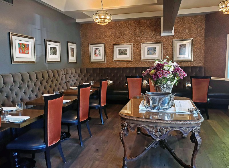 Dining Room at First & Oak in Solvang, CA