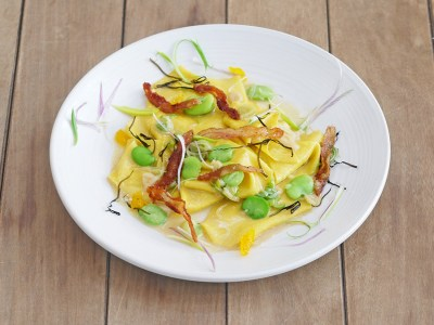 House Spring Maltagliati with Fava Beans at root 246 in Solvang