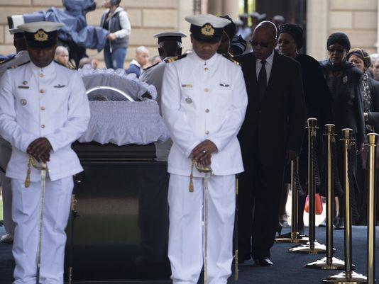 mandela's casket