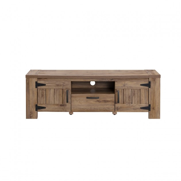 meuble tv 2 portes 1 tiroir style campagne