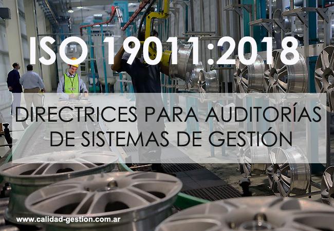 NORMA ISO 19011:2018 - AUDITORIA DE SISTEMAS DE GESTIÓN