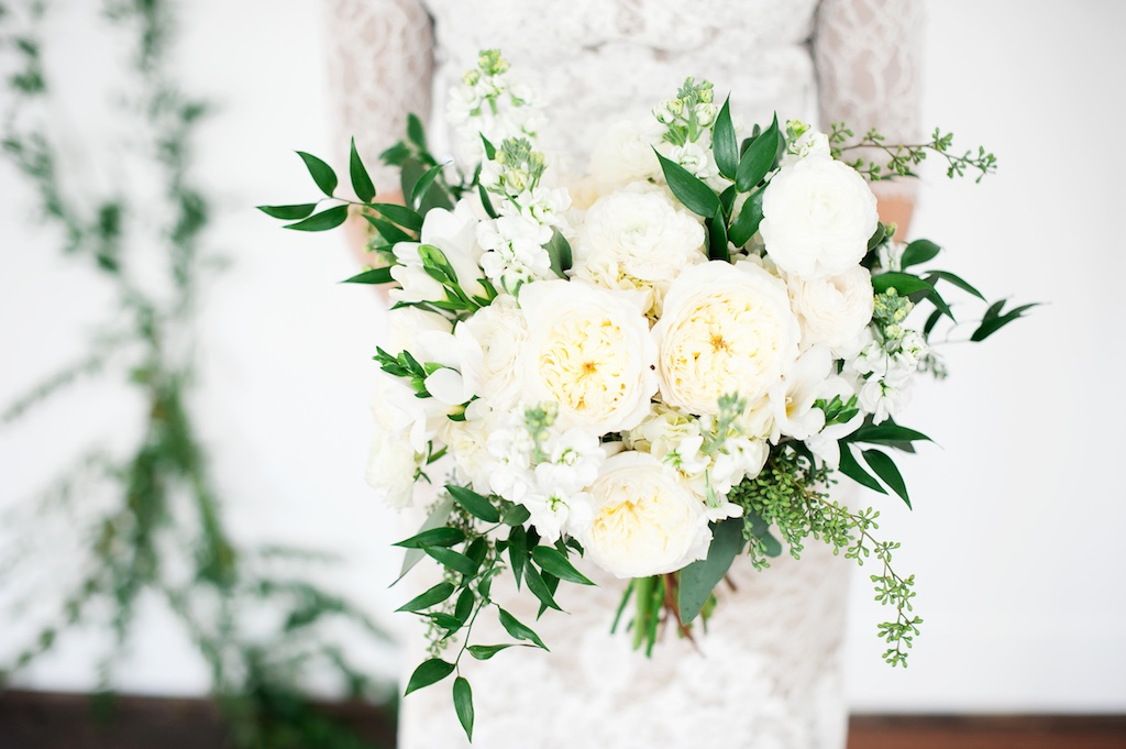 Romantic White Wedding Flowers Vine Wall Backdrop Utah