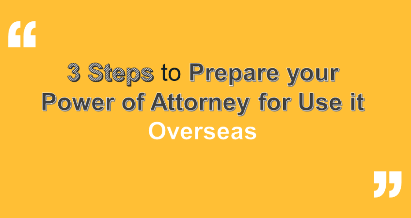 prepare a Power of Attorney