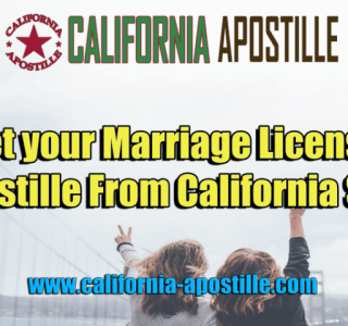 Apostille Marriage License California