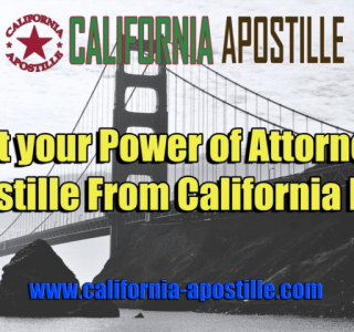 California Power of Attorney Apostille